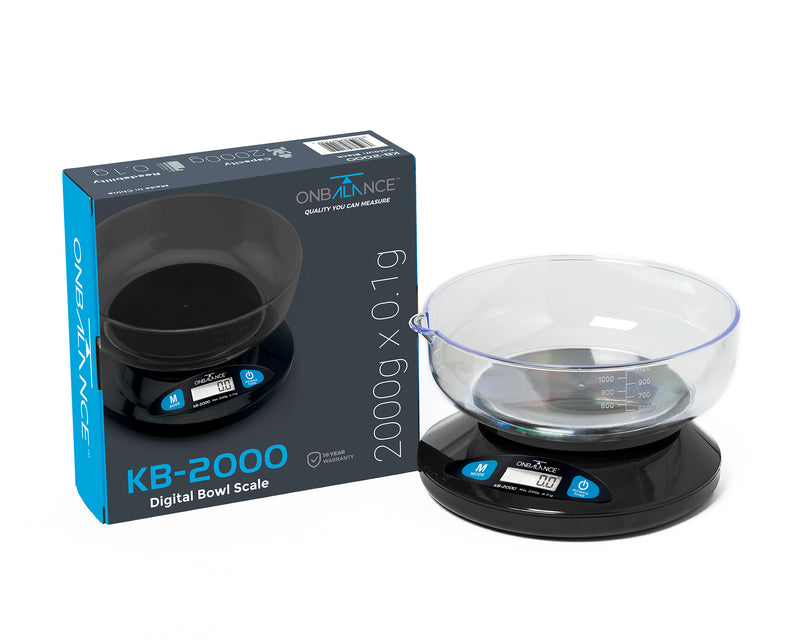 KB-2000 On Balance Versatile Kitchen Scale 2000g x 0.1g