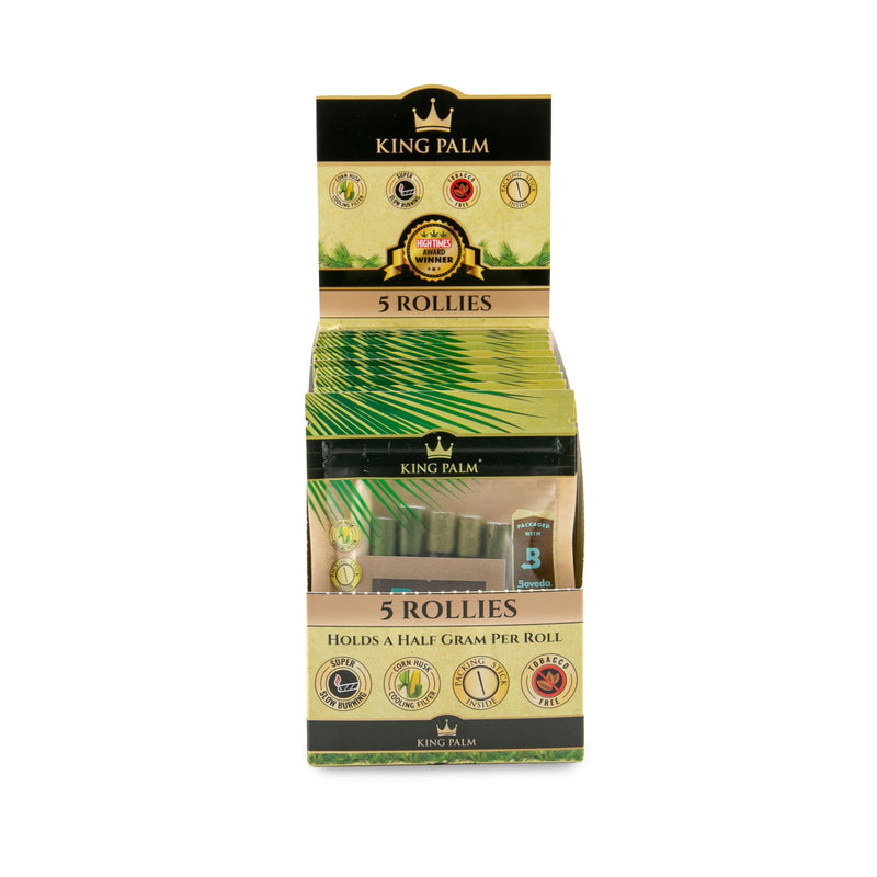 King Palm Rollies 5 Pack Pouch Display - 15 Pcs