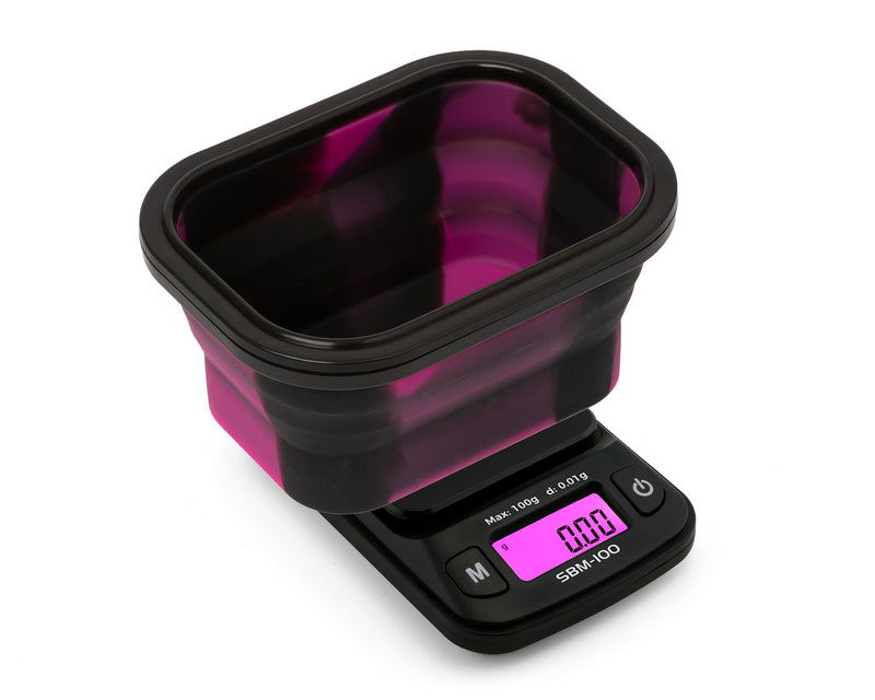 SBM-100 On Balance The ORIGINAL Silicone Bowl Scale - Pink  100g x 0.01g