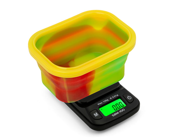 SBM-100 On Balance The ORIGINAL Silicone Bowl Scale - Rasta  100g x 0.01g