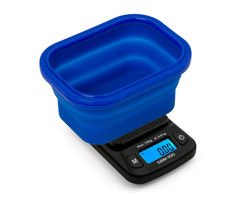 SBM-100 On Balance The ORIGINAL Silicone Bowl Scale - Blue  100g x 0.01g