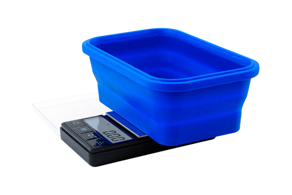 SBS-200 On Balance Scale with blue collapsible silicone bowl 200g x 0.01g
