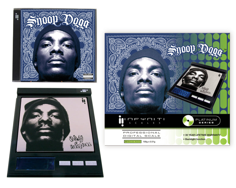 IN-SNC0100 Officially licensed Snoop Dogg CD scale 100 x 0.01g