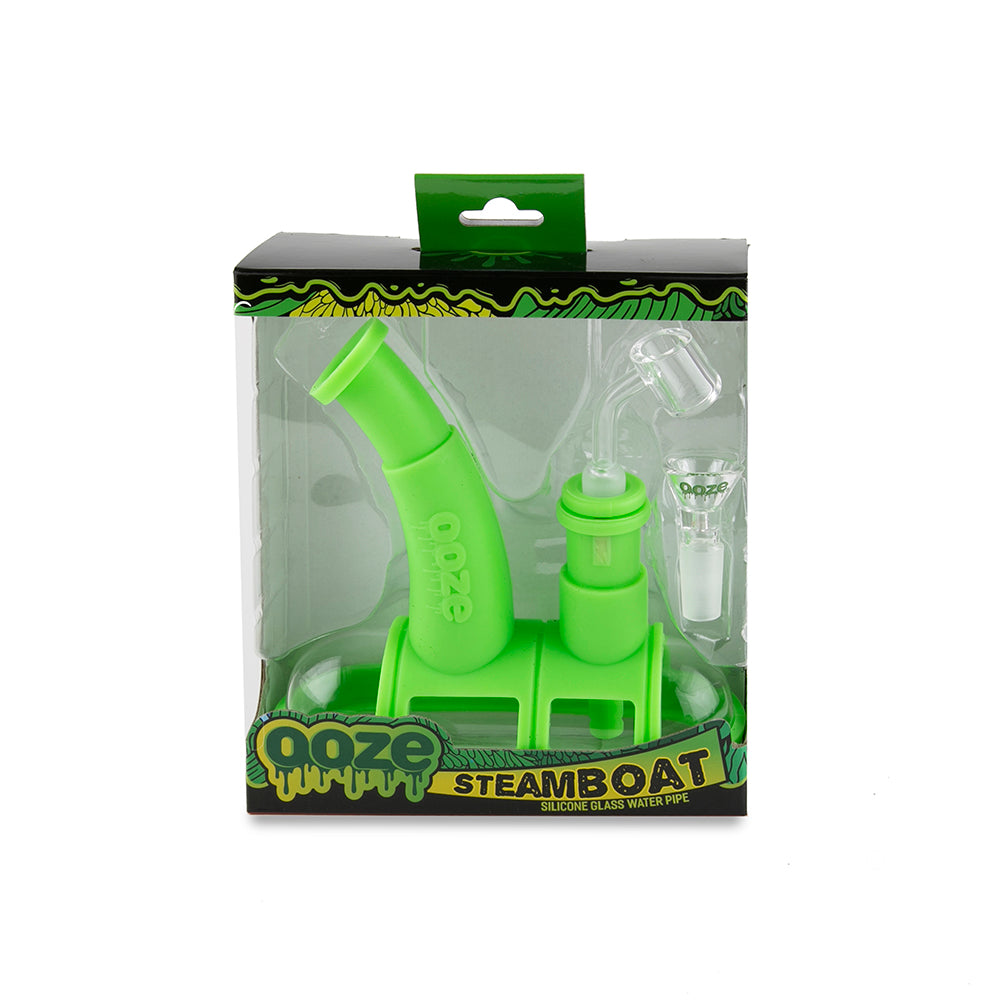 Ooze Steamboat Silicone Bubbler - Green