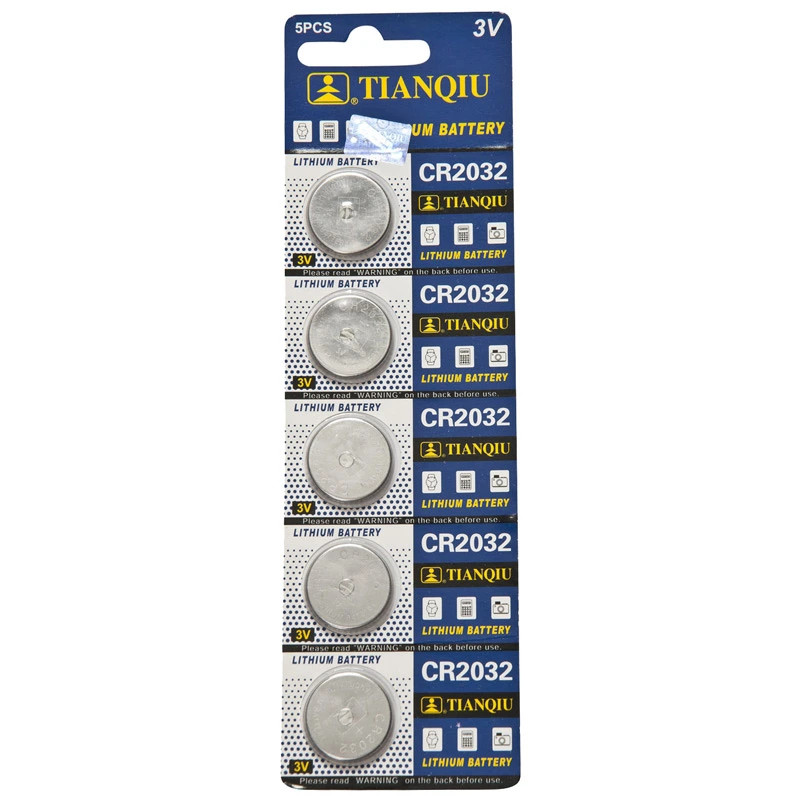 Batteries CR-2032. Pack of 5
