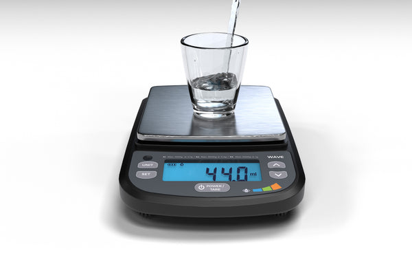 WA-5000 On Balance WAVE IP-65 Rated Compact Bench Scale 5000g x 1g/3000g x 0.5g/1000g x 0.1g