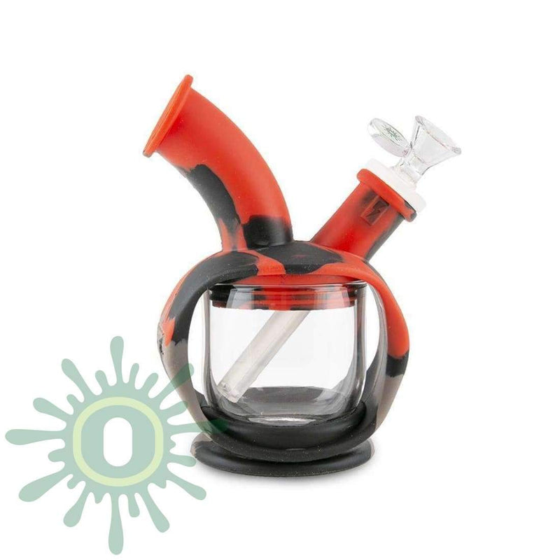 Ooze Kettle Silicone Bubbler - Black / Grey / Red