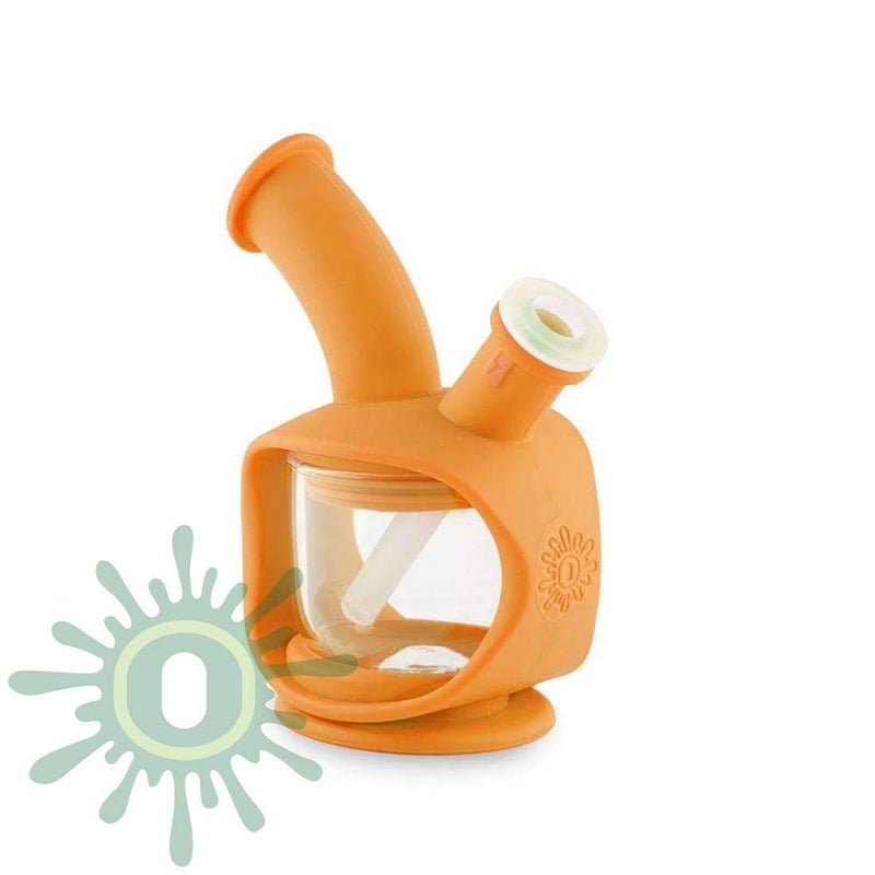 Ooze Kettle Silicone Bubbler - Orange