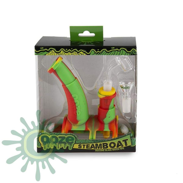 Ooze Steamboat Silicone Bubbler - Rasta