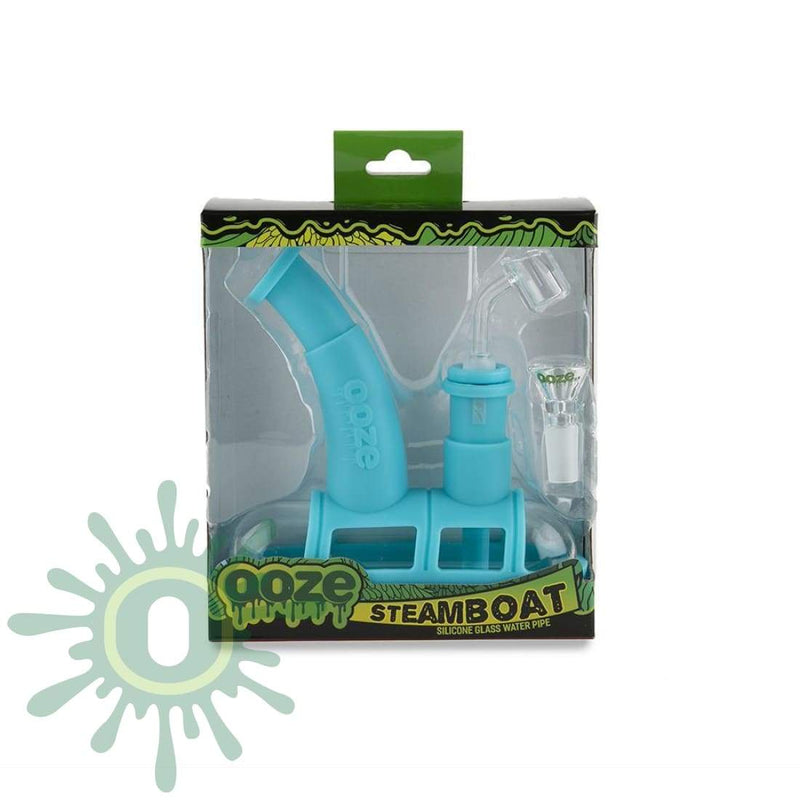 Ooze Steamboat Silicone Bubbler - Teal