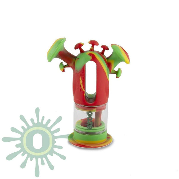 Ooze Trip Pipe Silicone Bubbler - Rasta And Glass Water