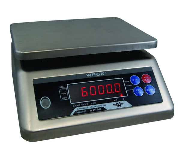 MW-WP6K My Weigh Waterproof IP68 Stainless Steel 6000g x 0.5g