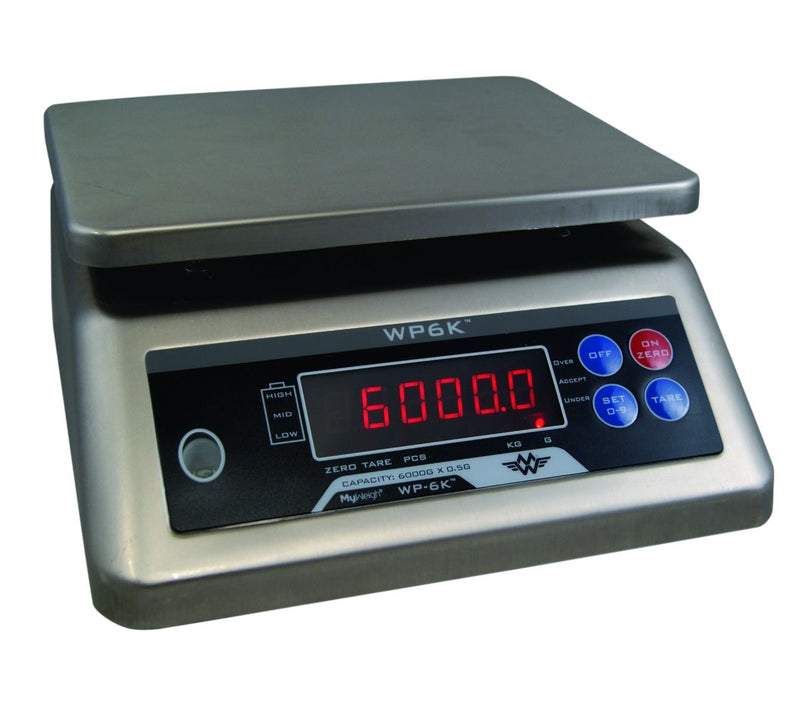 WP6000-UK My Weigh Waterproof IP68 Stainless Steel 6000g x 0.5g