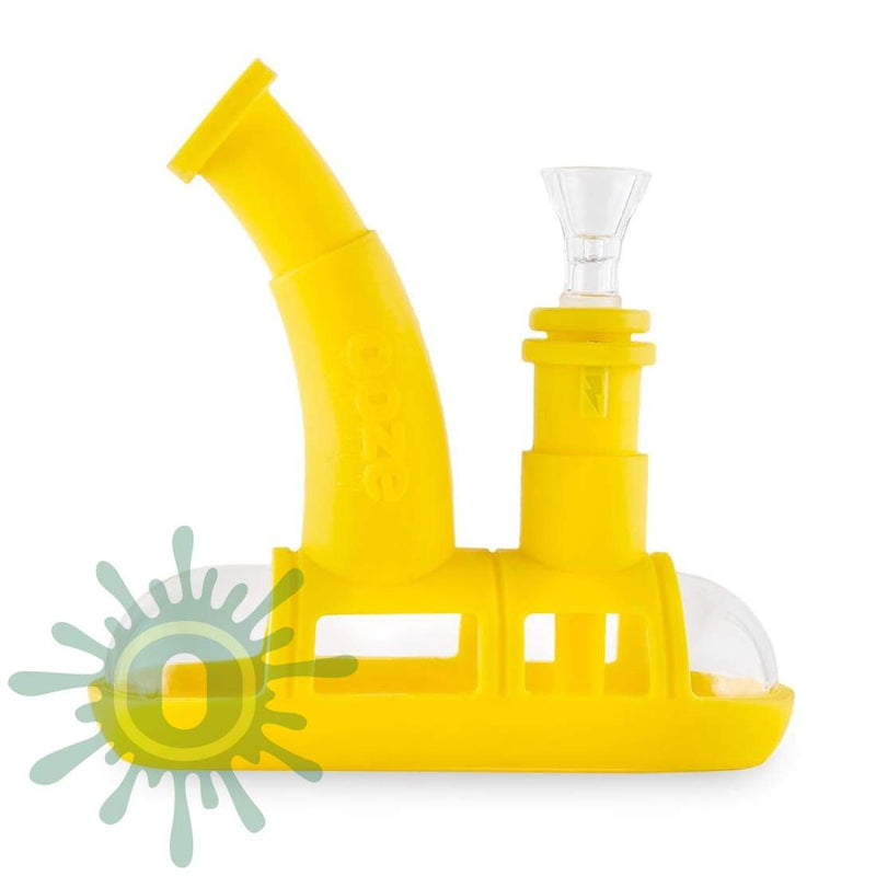 Ooze Steamboat Silicone Bubbler - Yellow
