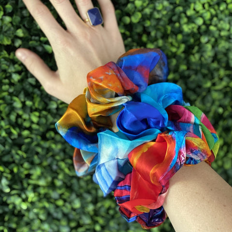 Silk Scrunchies (Set of 3).