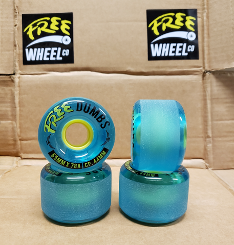 FREE DUMBS Longboard Wheels (BLUE)