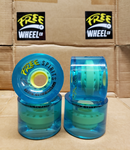 FREE SPIRITS Longboard Wheels (BLUE)