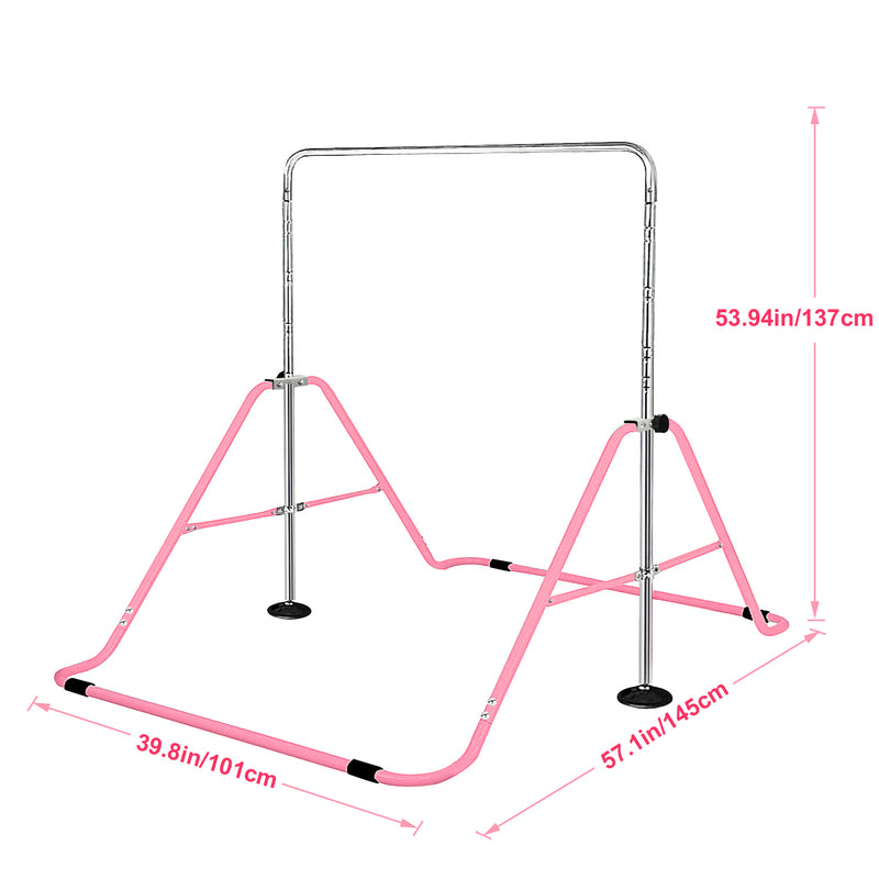 Size of Foldable Gymnastics Bar for Children
