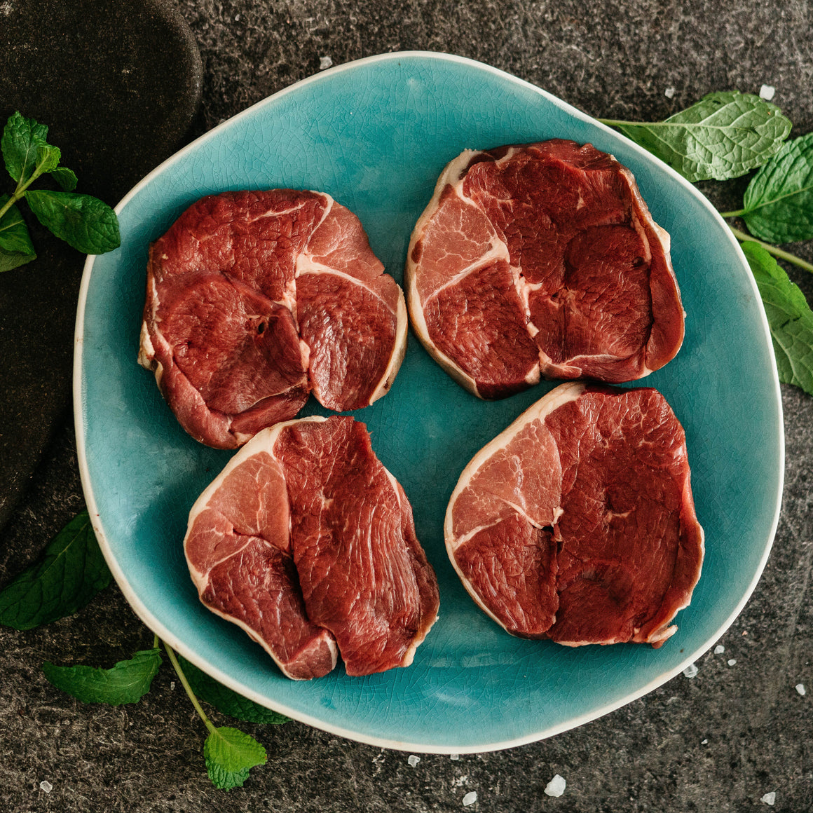 Organic Lamb Leg Steaks