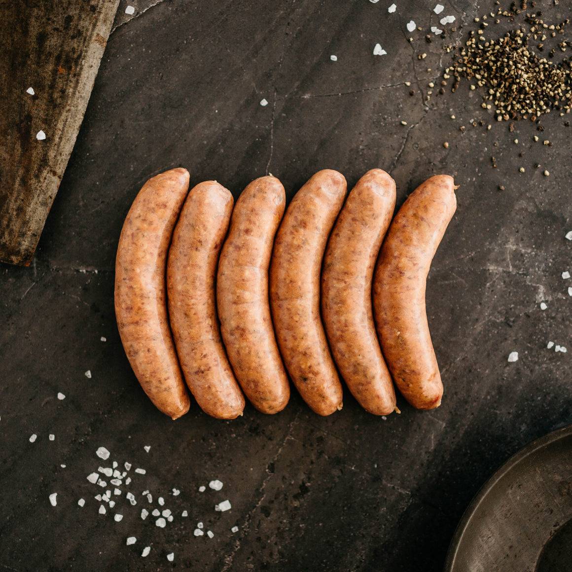 NEW! Worcester and Cracked Pepper Beef Sausages