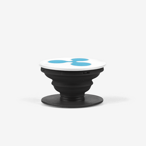 Black Ripple Popsocket With Blue Ripple Logo Side View