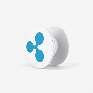 White Ripple Popsocket With Blue Ripple Logo Side View