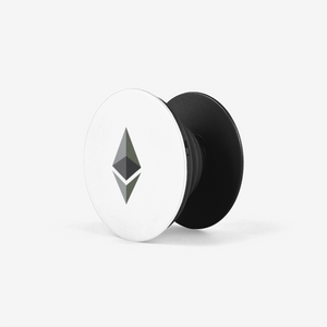 Black Ethereum Popsockets With Black and Grey Ethereum Logo Side View