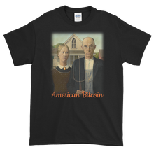Load image into Gallery viewer, Black Short Sleeve T-Shirt With American Bitcoin Design