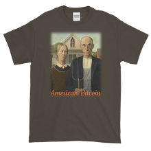 Load image into Gallery viewer, Olive Short Sleeve T-Shirt With American Bitcoin Design