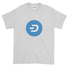 Load image into Gallery viewer, Ash Short Sleeve T-Shirt With Blue and White Dash Logo