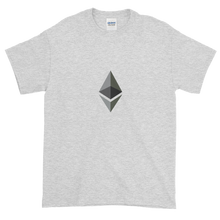 Load image into Gallery viewer, Ash Short Sleeve T-Shirt With Black and Grey Ethereum Diamond