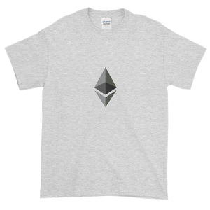 Ash Short Sleeve T-Shirt With Black and Grey Ethereum Diamond