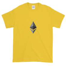Load image into Gallery viewer, Yellow Short Sleeve T-Shirt With Black and Grey Ethereum Diamond