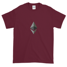 Load image into Gallery viewer, Maroon Short Sleeve T-Shirt With Black and Grey Ethereum Diamond