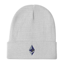 Load image into Gallery viewer, Black Beanie With Embroidered Ethereum Diamond Logo