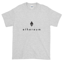 Load image into Gallery viewer, Ash Short Sleeve T-Shirt With Black Ethereum Logo
