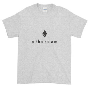 Ash Short Sleeve T-Shirt With Black Ethereum Logo