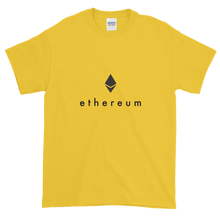 Load image into Gallery viewer, Yellow Short Sleeve T-Shirt With Black Ethereum Logo