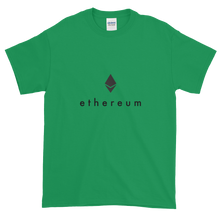 Load image into Gallery viewer, Green Short Sleeve T-Shirt With Black Ethereum Logo