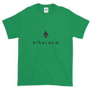 Green Short Sleeve T-Shirt With Black Ethereum Logo
