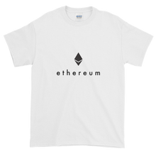 Load image into Gallery viewer, White Short Sleeve T-Shirt With Black Ethereum Logo