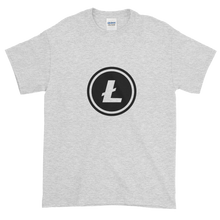 Load image into Gallery viewer, Ash Short Sleeve T-Shirt With Black Litecoin Logo