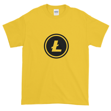 Load image into Gallery viewer, Yellow Short Sleeve T-Shirt With Black Litecoin Logo