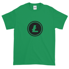 Load image into Gallery viewer, Green Short Sleeve T-Shirt With Black Litecoin Logo