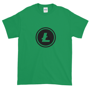Green Short Sleeve T-Shirt With Black Litecoin Logo