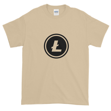 Load image into Gallery viewer, Sand Short Sleeve T-Shirt With Black Litecoin Logo