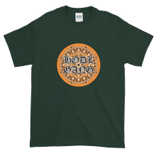 Load image into Gallery viewer, Forest Green Short Sleeve T-Shirt With Orange and Black HODL GANG Logo