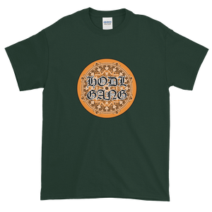 Forest Green Short Sleeve T-Shirt With Orange and Black HODL GANG Logo
