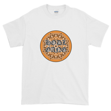 Load image into Gallery viewer, White Short Sleeve T-Shirt With Orange and Black HODL GANG Logo
