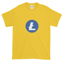 Load image into Gallery viewer, Yellow Short Sleeve T-Shirt With Blue and White Litecoin Logo